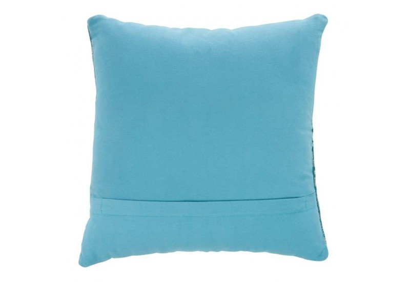 coussin d houssable chenille bleu turquoise 45x45cm j line by jolip. Black Bedroom Furniture Sets. Home Design Ideas