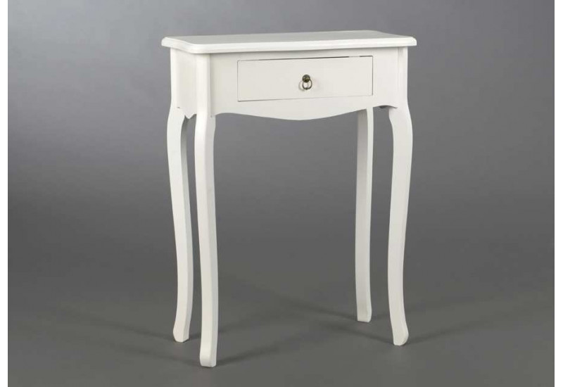petite console classique chic blanche 1 tiroir amadeus. Black Bedroom Furniture Sets. Home Design Ideas