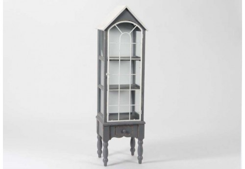 Vitrine Maison antique gris