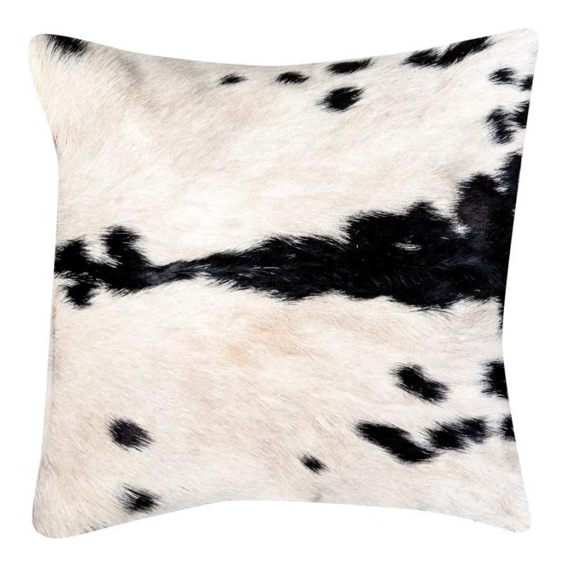 coussin en peau de vache blanc vical home vh 20114. Black Bedroom Furniture Sets. Home Design Ideas