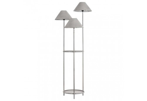 lampadaire vintage en m tal vieilli blanc 3 branches vical. Black Bedroom Furniture Sets. Home Design Ideas