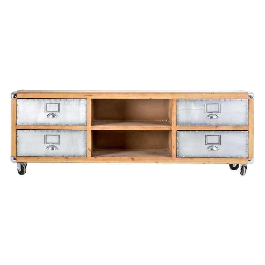 roulette meuble industriel. Black Bedroom Furniture Sets. Home Design Ideas