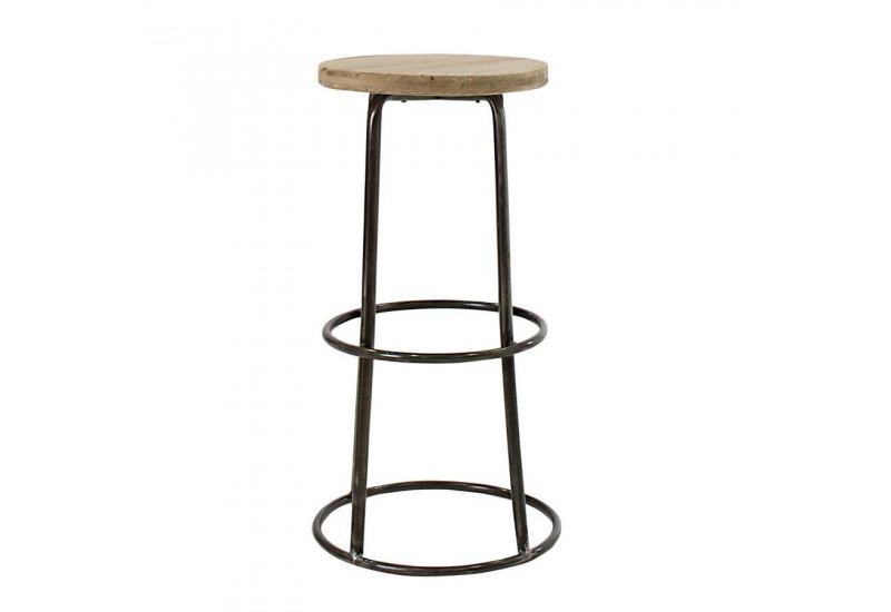 tabouret de bar en m tal et assise en bois brut epic a vical home 2. Black Bedroom Furniture Sets. Home Design Ideas