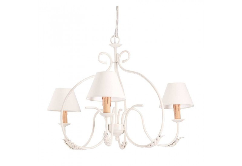 lustre 3 lampes cr me avec abat jour beige vical home vical home vh. Black Bedroom Furniture Sets. Home Design Ideas
