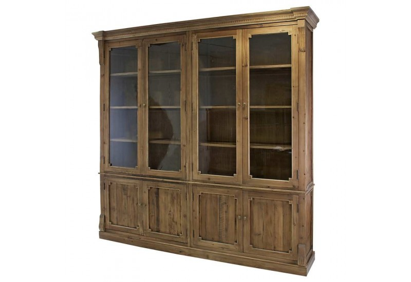 vitrine 8 portes en bois massif vieilli vical home vical home 23269. Black Bedroom Furniture Sets. Home Design Ideas