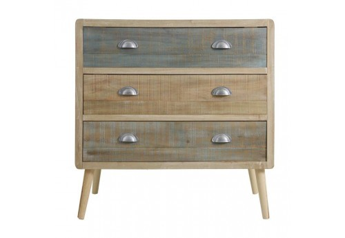 Commode 3 tiroirs bicolore scandinave Vical Home