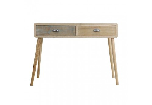 Console 2 tiroirs bicolore scandinave Vical Home