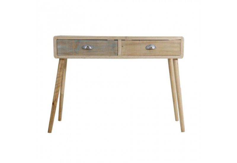 Console 2 tiroirs bicolore scandinave vical home vical home 23334 - Console cocktail scandinave ...