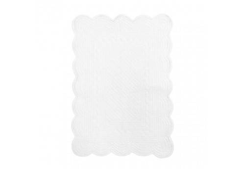 Set de table boutis rectangulaire 48x34cm blanc Coté Table (Lot de 12)