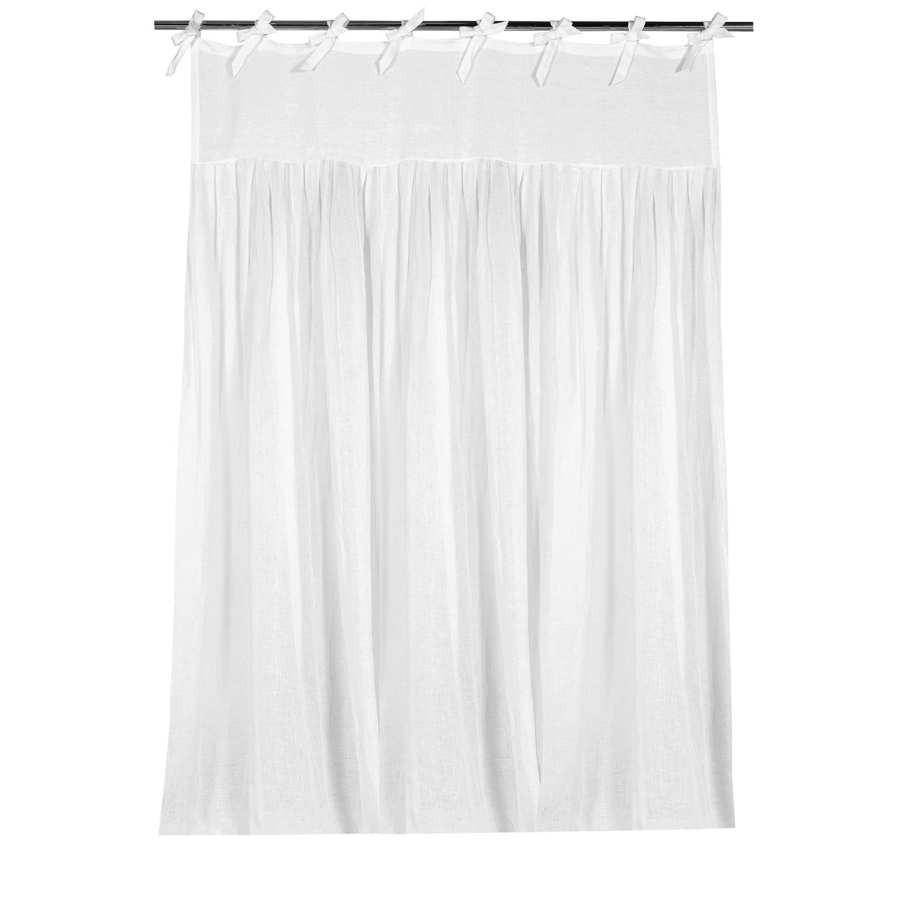 Rideau plis plats  nouettes 270x140cm blanc Coté Table C´té table