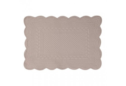 Set de table rectangulaire boutis 48x34cm gris Coté Table (Lot de 12)