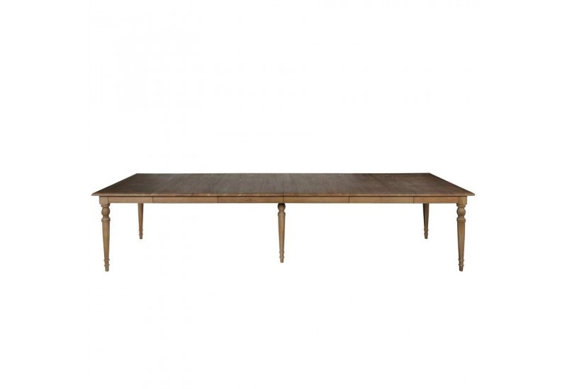 Table manger en ch ne 4 rallonges family 350x110x78 cot - Tables a rallonges ...