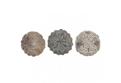 Lot de 3 Boules déco chic collection élégant 8.5cm Coté Table