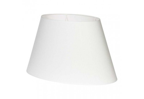 Abat-jour ovale en lin collection Fem 60x38h33cm blanc Coté Table