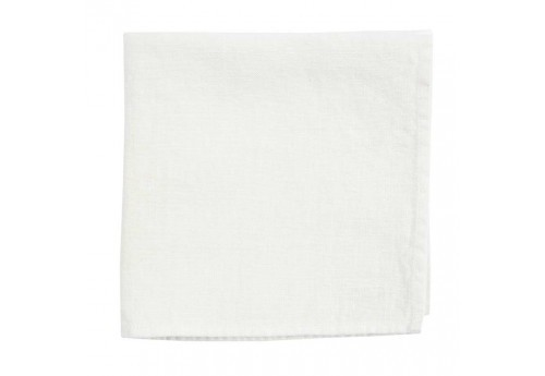 Serviette en lin 185 gr collection Basic 35x35 cm blanc Coté Table (Lot de 6)