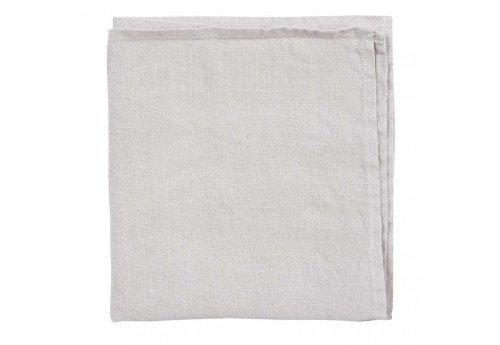 Serviette en lin 185gr collection Basic cl 35x35 cm gris clair Coté Table (Lot de 6)