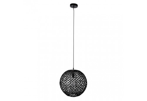 Suspension orientale en osier noir d43h45.5 cm Coté Table