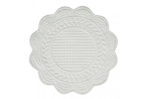 Set de table rond boutis 42cm gris perle Coté Table (Lot de 12)