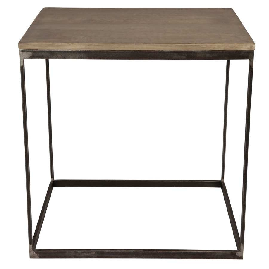60x50x60 Collection Cargo Atelier Cm De Canapé Table Bout Gris Coté rxoeWdBC