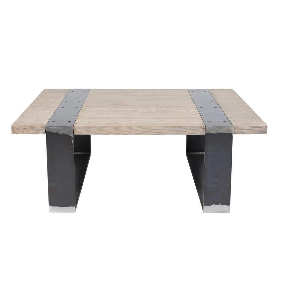 table salon industriel table basse en mtal x industriel with table salon industriel table. Black Bedroom Furniture Sets. Home Design Ideas