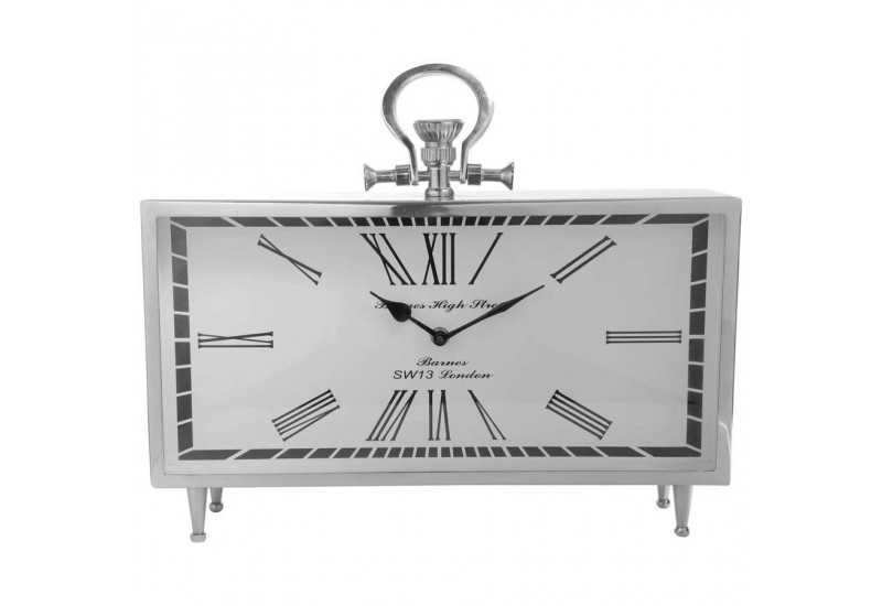 horloge poser chiffre romain 40x34 cm argent cot table c t tab. Black Bedroom Furniture Sets. Home Design Ideas