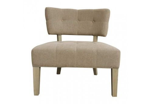 Fauteuil contemporain chic en lin collection Scala 70.5 cm naturel ...