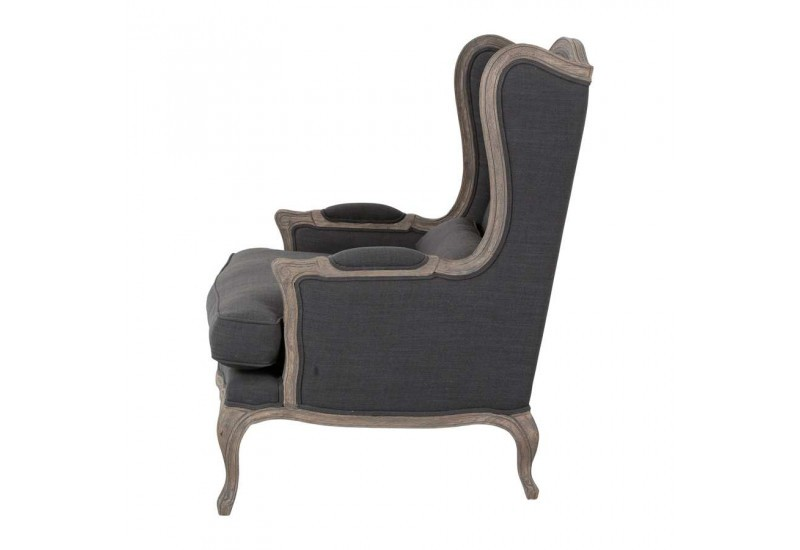 fauteuil berg re chic en tissus et ch ne armorus 85x91x10. Black Bedroom Furniture Sets. Home Design Ideas