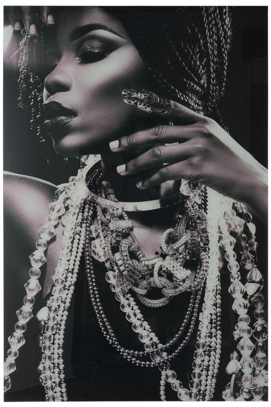 tableau africain noir et blanc