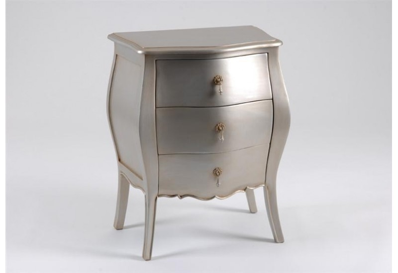 mini commode 3 tiroirs murano argent silver amadeus amadeus 711. Black Bedroom Furniture Sets. Home Design Ideas