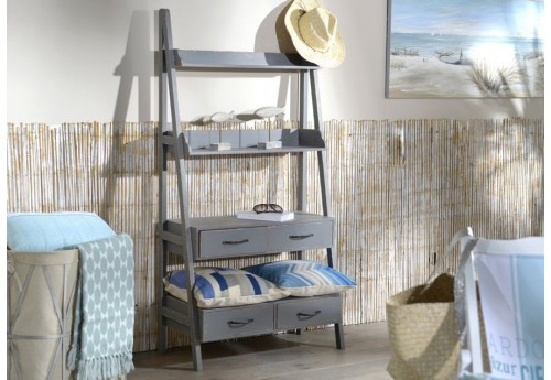 etag re chelle en bois vieilli bleu gris amadeus 25611. Black Bedroom Furniture Sets. Home Design Ideas