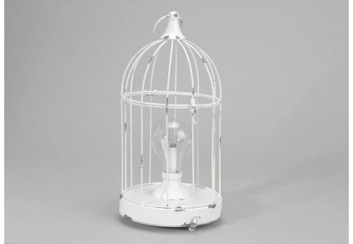 Lanterne cage blanche