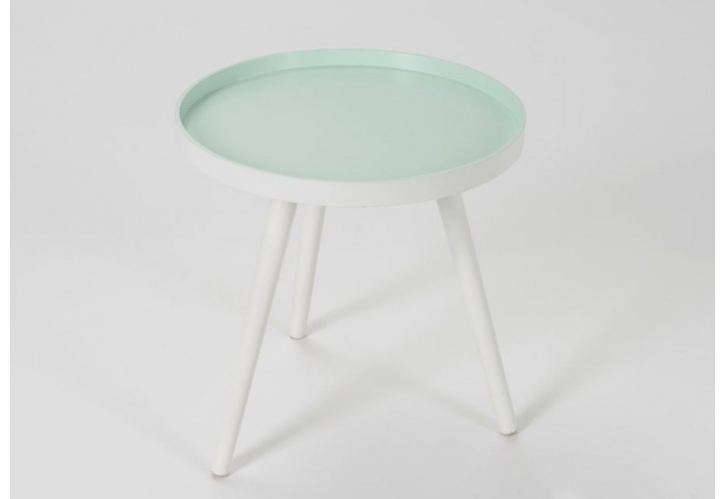 Table d 39 appoint tr pied scandinave vert d 39 eau amadeus 25850 for Table basse scandinave vert d eau