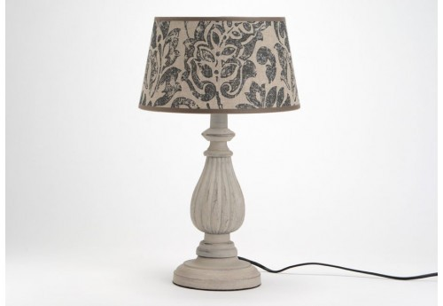 Lampe de chevet baroque chic grise elise amadeus 25970 for Lampe de chevet exotique