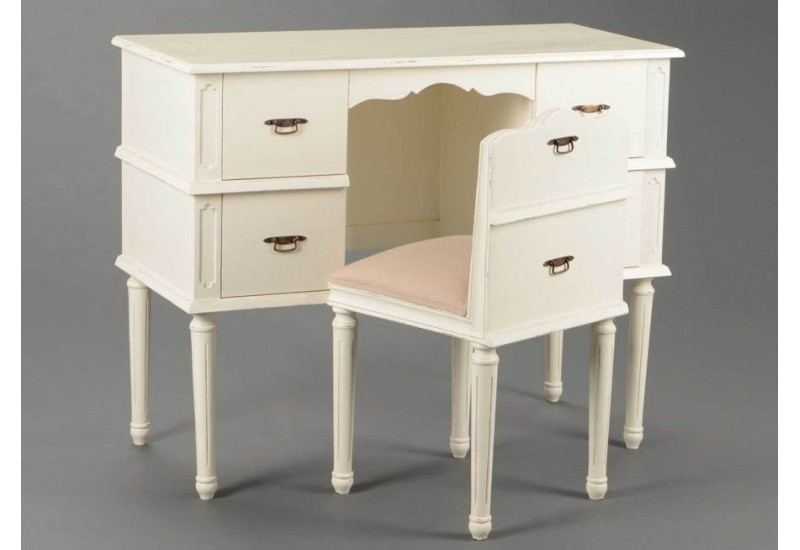 bureau classique chic patin cr me amadeus 26058. Black Bedroom Furniture Sets. Home Design Ideas