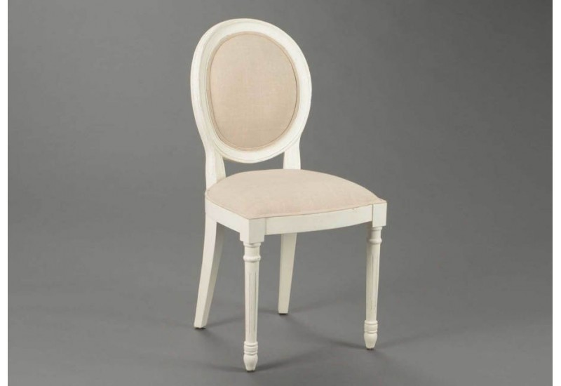 Chaise medaillon blanche remc homes for Chaise medaillon enfant