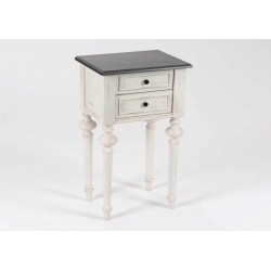 Table de chevet 2 tons gris HERITAGE