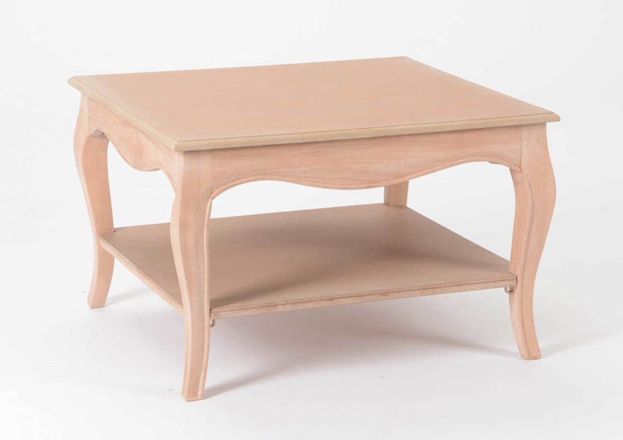 Table Basse Carre 2 Plateaux Pret A Peindre Merveille Amadeus Am 12
