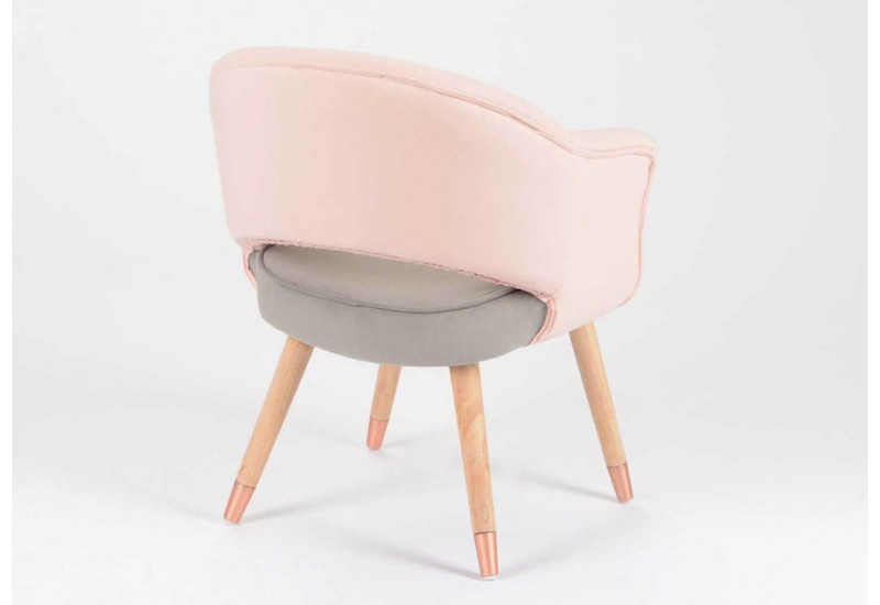 fauteuil scandinave gris et rose pastel amadeus am 123924. Black Bedroom Furniture Sets. Home Design Ideas