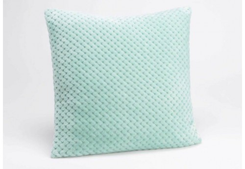 coussin damier en velours vert d 39 eau 40x40 cm amadeus 26474. Black Bedroom Furniture Sets. Home Design Ideas