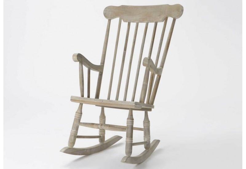 fauteuil rocking chair en bois naturel amadeus 26661