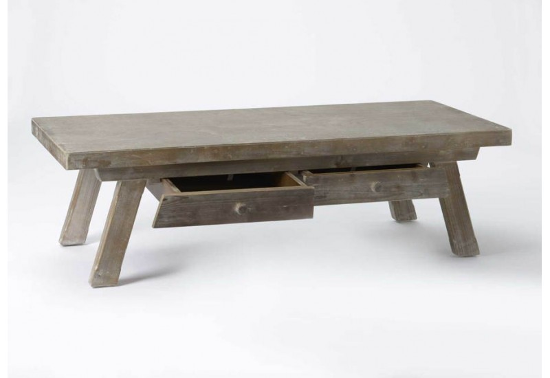 Table basse en bois massif naturel amadeus 26664 - Table basse en bois naturel ...