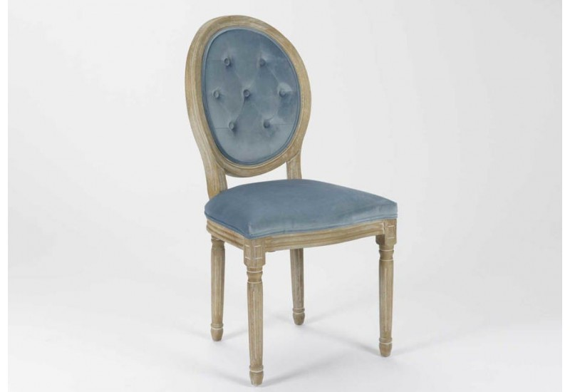 chaise m daillon en velours bleu clair lot de 2 amadeus 26767. Black Bedroom Furniture Sets. Home Design Ideas