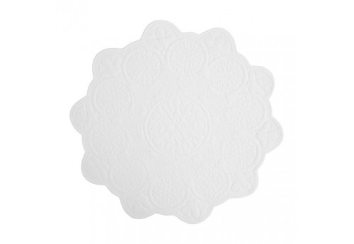 Set de table rosace blanc D 45 cm (Lot de 6)