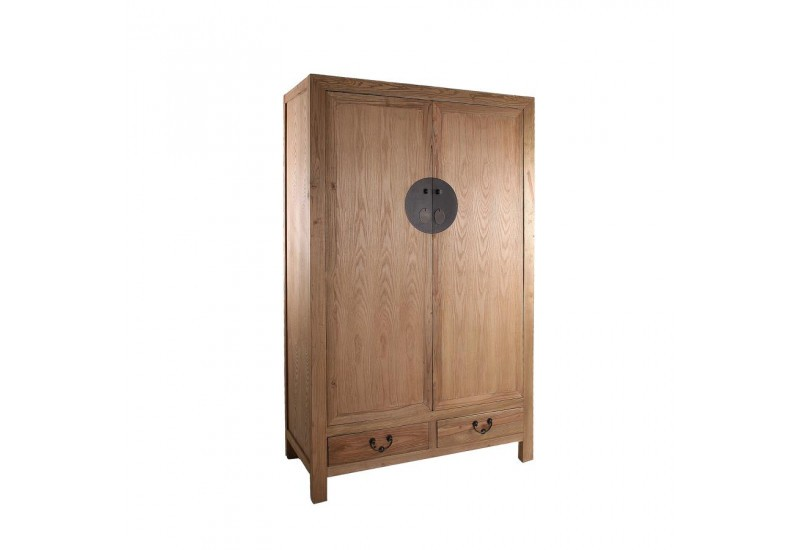armoire 2 portes exotique en bois brut naturel vical home. Black Bedroom Furniture Sets. Home Design Ideas