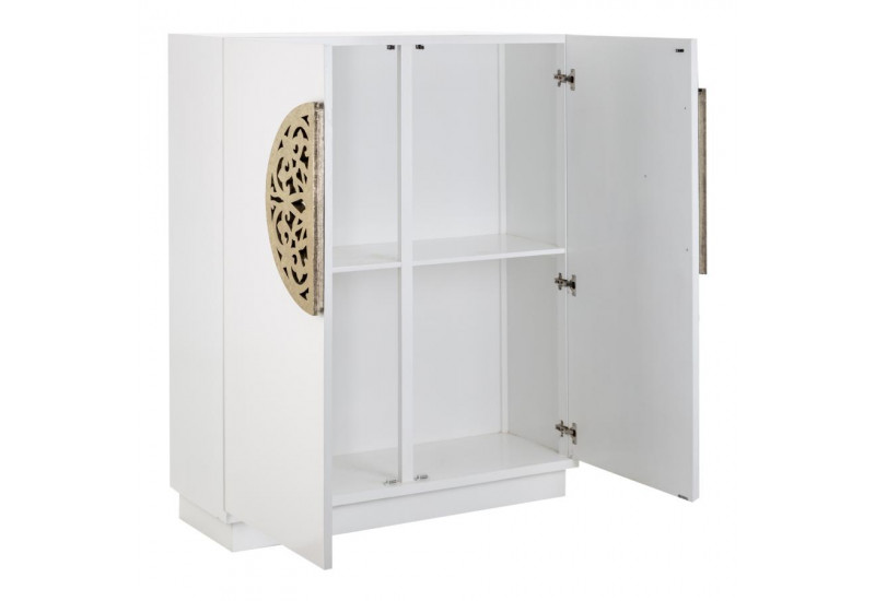 armoire basse coloniale 2 portes en bois blanc vical home. Black Bedroom Furniture Sets. Home Design Ideas