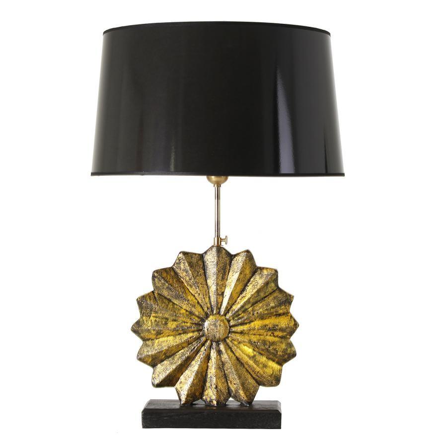 Lampe Noir En Jour Poser À Soleil Avec Abat Teck Or TF3ulJc1K