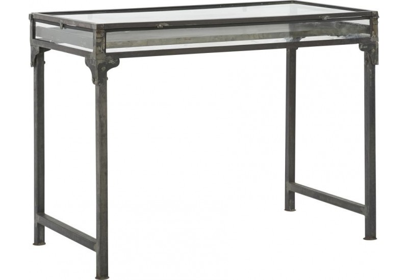 Table vintage en fer brut Showcase 120x60xH90cm