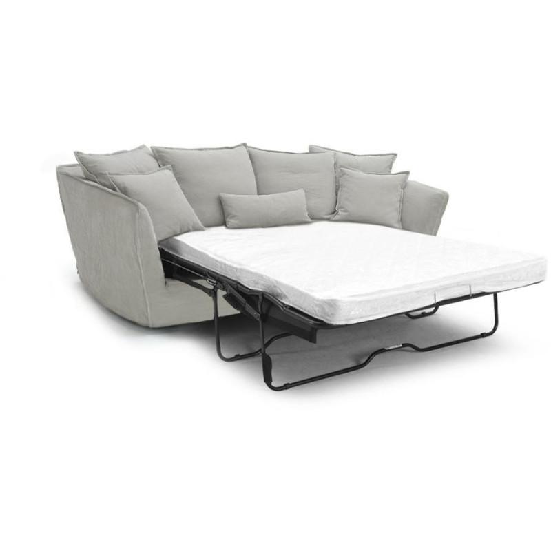 canap convertible cocooning paros en lin gris. Black Bedroom Furniture Sets. Home Design Ideas