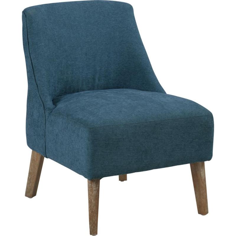 fauteuil bas scandinave tissu bleu canard crawford 53x54xh72cm hanj. Black Bedroom Furniture Sets. Home Design Ideas
