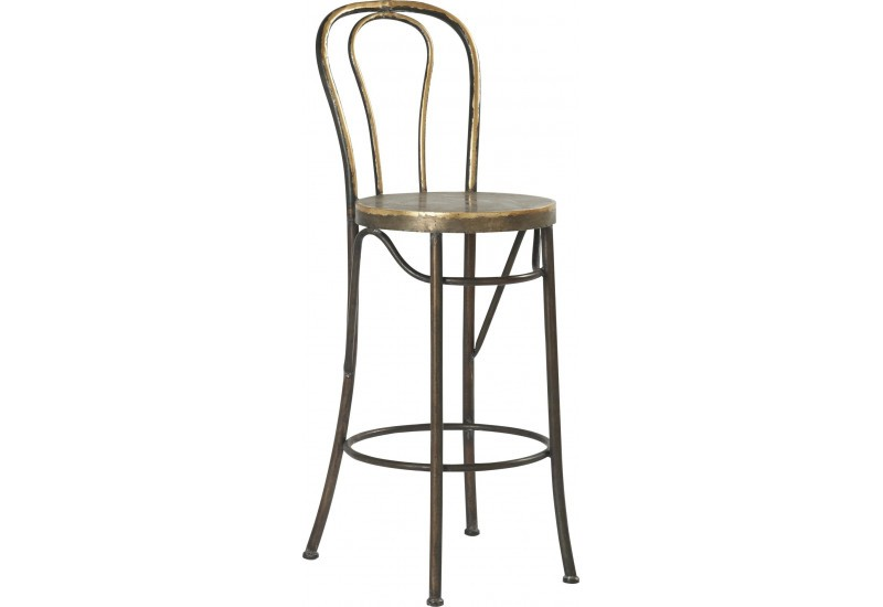 tabouret de bar bistrot en m tal aspect vieilli m talo. Black Bedroom Furniture Sets. Home Design Ideas